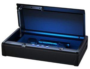 biometric gun safewith interior light