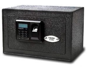 biometric pistol wall safe